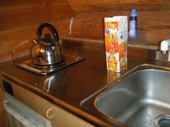 Hotel Lodge Maishima : ログハウス台所