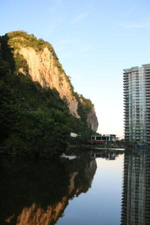 Nature and hotel block A.