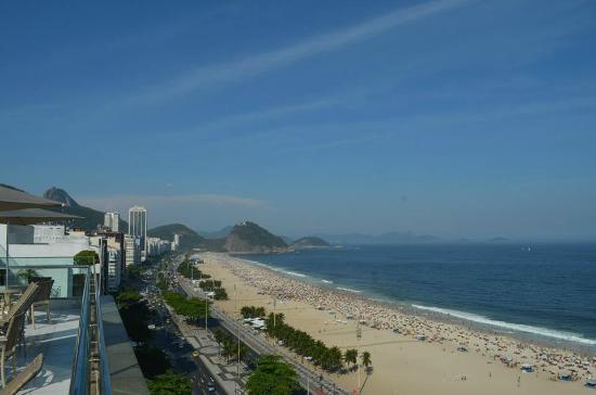 Arena Copacabana Hotel: Vista do terraço