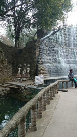 The Rock Garden Of Chandigarh: Rock Garden Waterfall