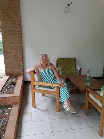 Cabanas Del Lenador Hotel: en la entrada de la cabaña