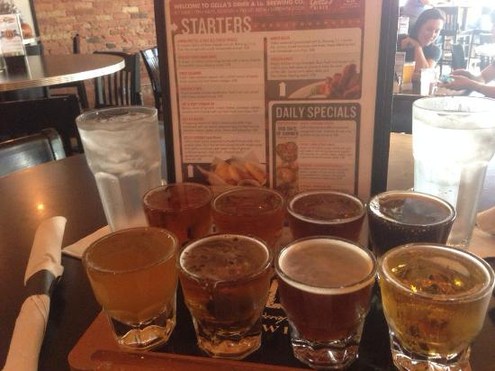 Gella's Diner & Lb. Brewing Co.: Take a beer flight tour!