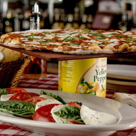 Pizza and Mozzarella Caprese