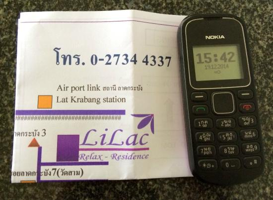 Lilac Relax-Residence: Free phone to call the hotel for pick up service at Kat Labrang station