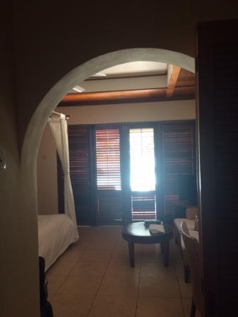 Kuramathi: vue chambre beach villa deluxe