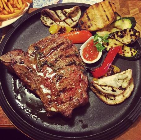 Wellness Hotel Lupo Bianco: Ribeye steak