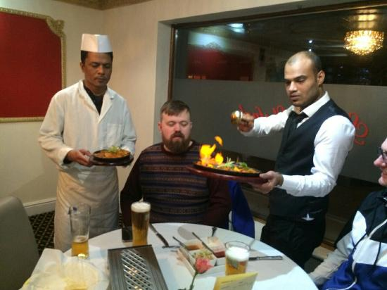 Royal Bengal Tandoori: Manager abdul and head chef with some lovely customers :D