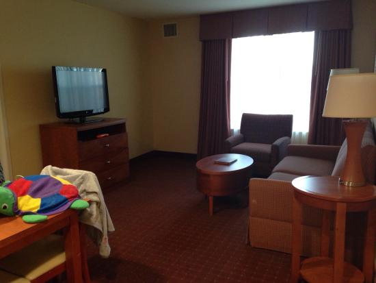 Homewood Suites Dulles - North / Loudoun: Plenty of space in the living room for a family to relax