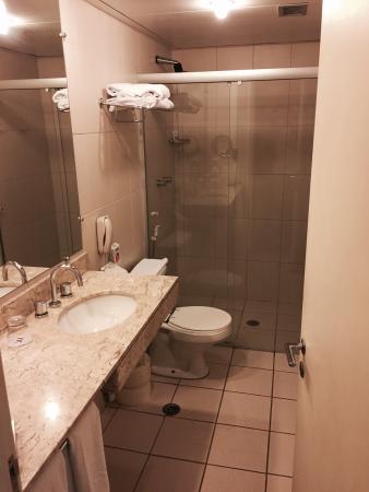 Mercure Sao Paulo Paulista: Banheiro: cara de velho, mas limpo e funcional.
