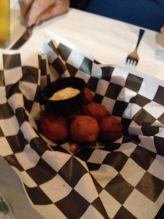 Lands End Restaurant : Hush puppies with honey butter.