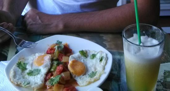 Aluna Casa y Cafe: Desayuno (muy rico)
