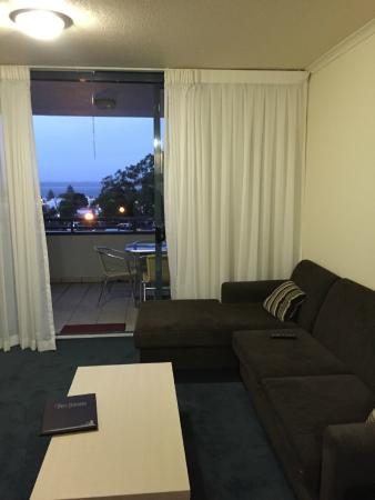 The Landmark Nelson Bay: One bedroom - Level 1 - view at night