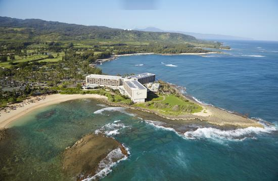 Kahuku, Hawaï : Aerial of the hotel