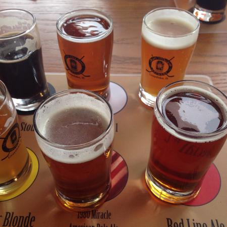 Grayslake, IL: Beer flight