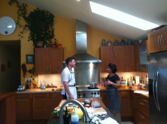 Chez Klio -Maui Cooking Class: View into her kitchen (can't see garage part from here)