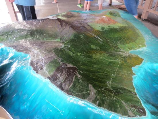Model display picture of hawaii volcanoes national park hawaii