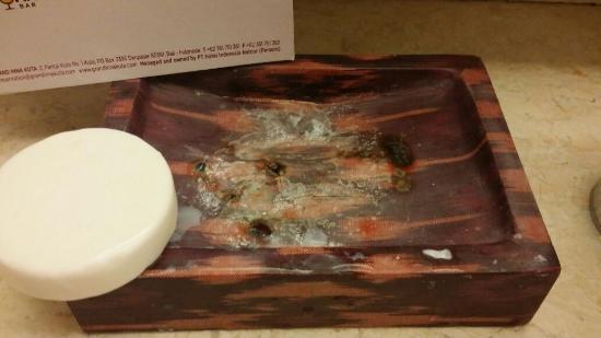 Grand Inna Kuta : the disgusting ashtray like, soap-holder in the hotel bathroom!