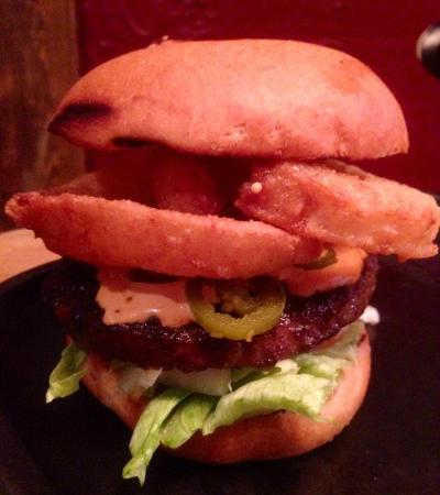 Texas Longhorn Gamla Stan : Burger of the week with Onion Rings