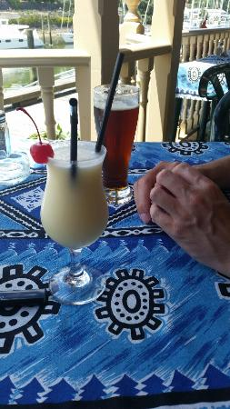 Reva's On The Waterfront : Pina Colada And Sassy Red And A Brilliant View