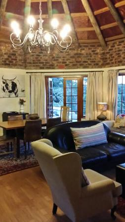 Forest Valley Cottages: from lounge to outside HILLSIDE