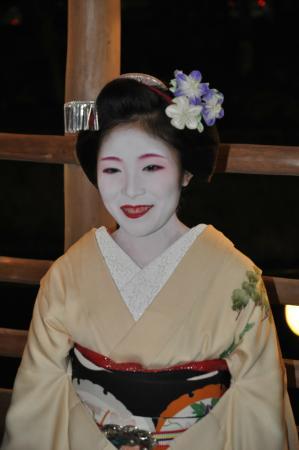 Momijiya Bekkan Kawa no Iori : Dinner with mayko