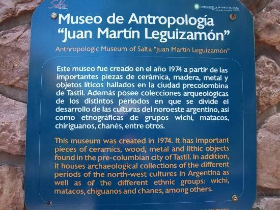 Museo de Antropologia de Salta: Referencias