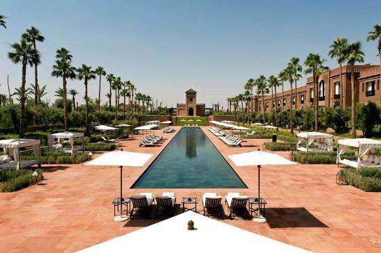 La Piscine De 80m De Long Picture Of Selman Marrakech Marrakech