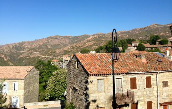 Hotel de la Poste: A terrace with a view
