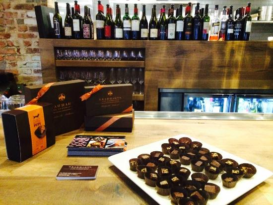 ENO Wine Bar: ENO offers chocolate from local chocolatiers