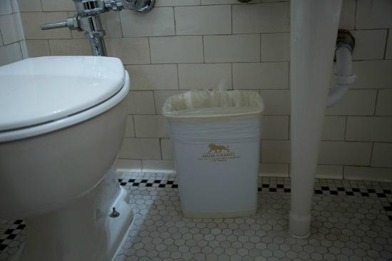 Gadsden Hotel : MGM logo on trash cans
