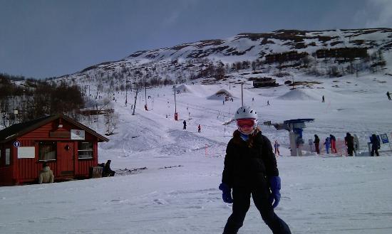 Telemark, Norway: Nydelig dag med utsikt mot barnebakken