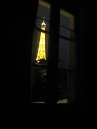 Hotel de Londres Eiffel: View from my bed.