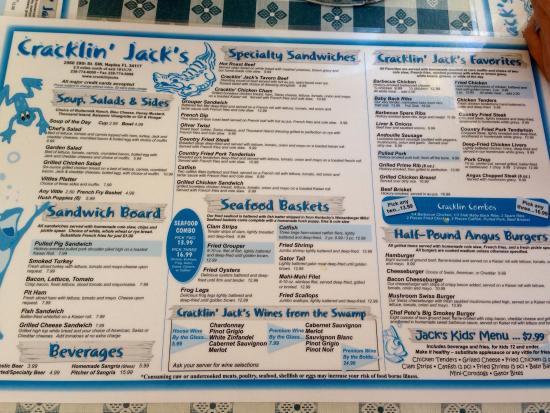 Cracklin jacks restaurant naples fl