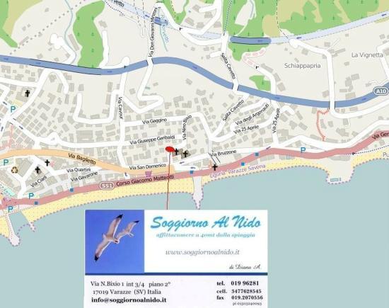mappa - Foto di Soggiorno Al Nido, Varazze - TripAdvisor