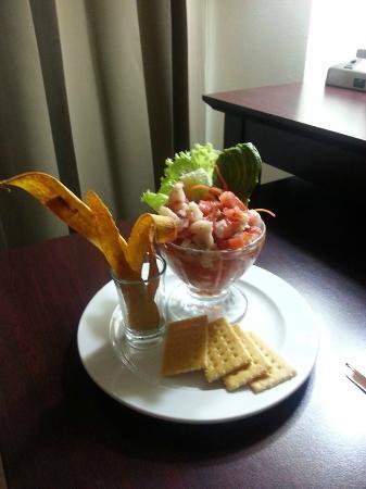 Holiday Inn San Salvador: seafood ceviche