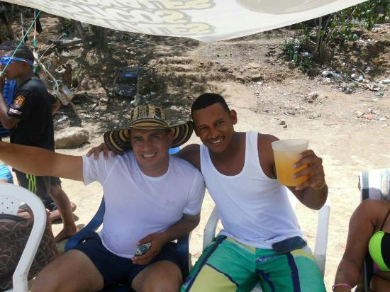 Chuspa, Венесуэла: Playa caribe con los panas