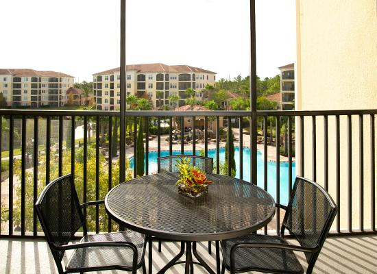 WorldQuest Orlando Resort: Private Balcony with Pool View
