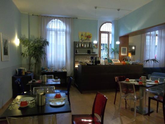 Hotel Magenta: im Erdgeschoß