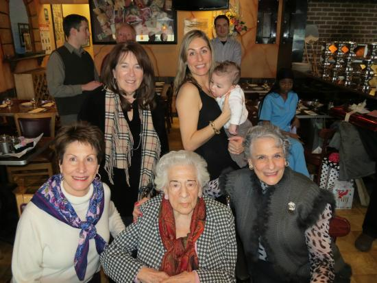 Atlantic Beach, NY: The 95th Birthday Party of Dorothy Volchok, mother of the two women flanking her