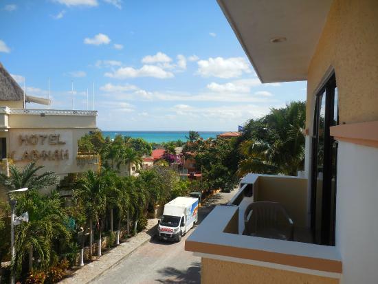 """Hotel Vista Caribe: Vista desde la """"junior suite con vista al mar"""" en la tercera planta."""