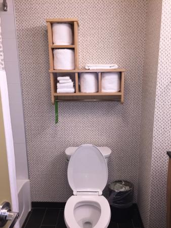 Hampton Inn & Suites Raleigh/Crabtree Valley: Very organized bathroom