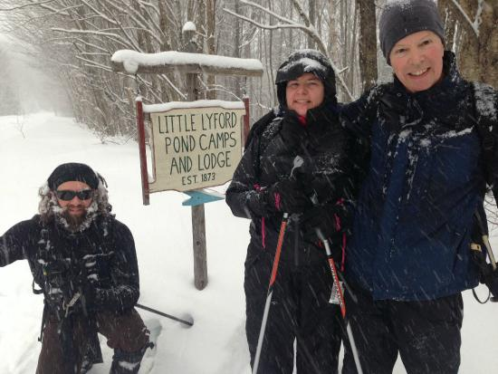 Little Lyford Lodge and Cabins: Skiing through a snowstorm to Little Lyford
