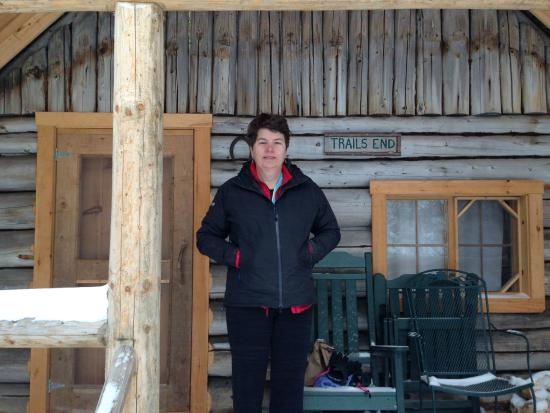 Little Lyford Lodge and Cabins : Standing in front of our cabin