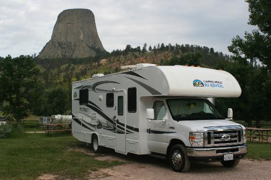 Devils Tower KOA: View from RV sites