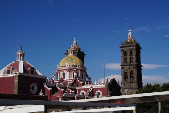 Hotel Puebla de Antano: Vue de la terrasse