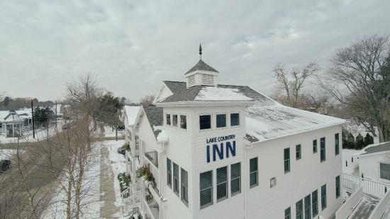 New Buffalo, MI: Drone view of tower