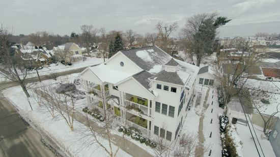 New Buffalo, MI: Drone shot of property