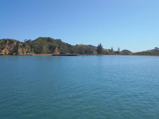 Arriving at Rotoroa Island