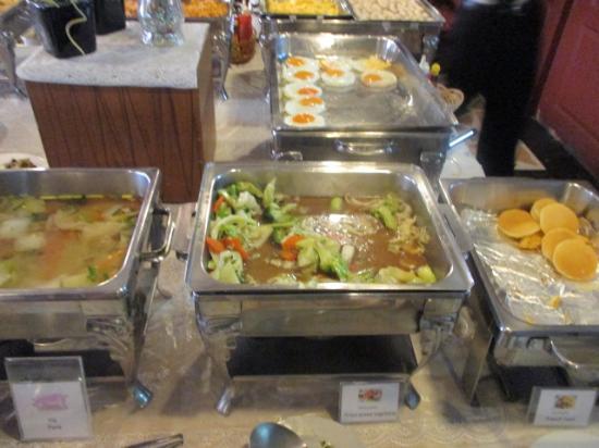 Bangkok City Inn: 朝食ビュッフェ。