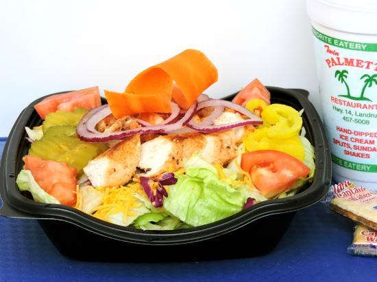 Landrum, Южная Каролина: Grilled chicken salad